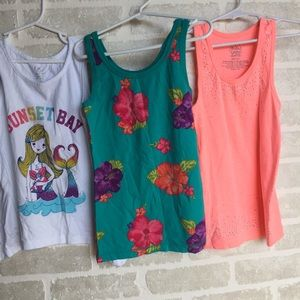 Three girls size 7/8 tank tops